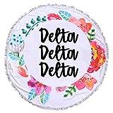 Sorority Shop Delta Delta Delta - Fringe Towel - Blanket