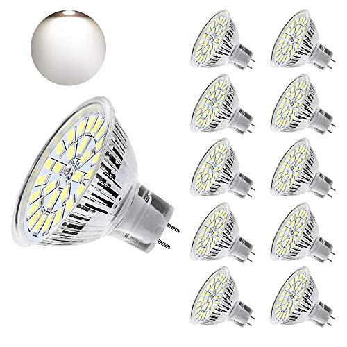 Eterbiz MR16 Led Kaltweiss, 5W GU5.3 LED Lampen, Ersatz für 50W Halogenlampen, 450lm, 12V-24V AC/DC, 6000 Kelvin, 120° Abstrahlwinkel, 10er-Pack