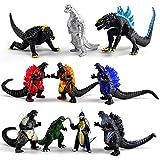 Godzilla Gran Espacio mecánico de Loto Rojo, Toho Dragon de Tres Cabezas Jidora Suave Monster Figura Regalo para niños,Muñeca Dinosaurio - A Set of 10