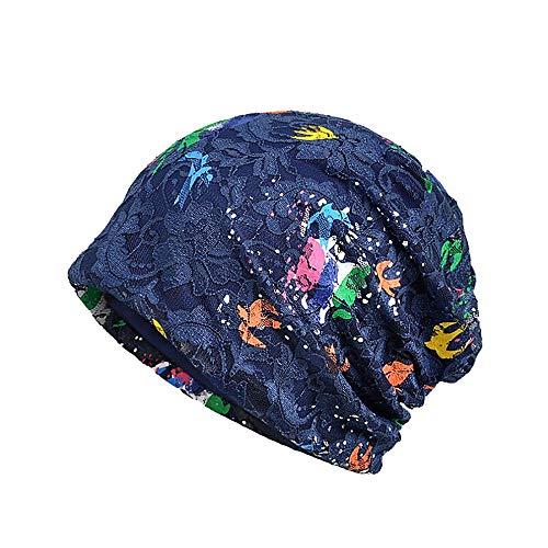 YWLINK Damen Wrap Indien Muslim Stretch Turban Hut Spitze Kopftuch