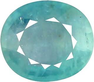 Deluxe Gems 0.58 ct Oval Cut (6 x 5 mm) Unheated/Untreated Greenish Blue Grandidierite Natural Gemstone