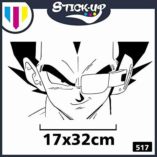 Stick-up Adesivo Vegeta Scouter Gradi Temperatura - Adesivo per condizionatori MOBILI Auto Moto - Dragonball z Comics Cartoon Cartoni Animati Sticker (Piccolo 17x32cm)
