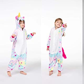 Cute Pink Cat Cosplay Onesie Girls Party Animais Cartoon for Kids Carnival Flannel Pajama Jumpsuit Girl Annacboy (Color : ...