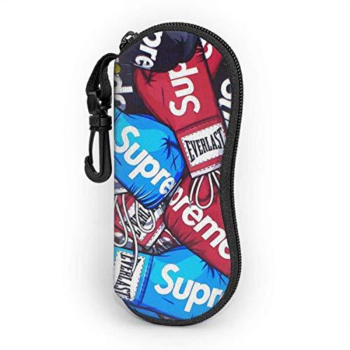 Lujo Street Fashion Gses caso con clip para cinturón, ultra ligero neopreno cremallera portátil gafas caso sunses funda suave para niñas mujeres niños hombres
