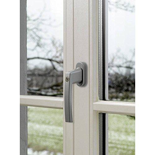 Abus Fenstergriff abschließbar FG210 S B/SB Silber, ABFS59486