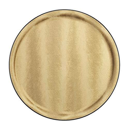 PLATEX 90036830 Plateau Plastique-SOLFETO Gold, Dore, 36