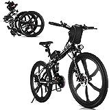 Bicicleta eléctrica eléctrica de 350W 26 Pulgadas Bicicleta eléctrica Plegable de la montaña 48V 10Ah Batería de Litio extraíble 21 Ciudad de la Velocidad Ebike Cruiser Carruper Bicicleta