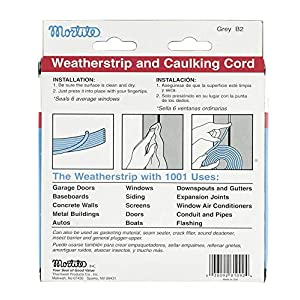 Frost King Available B2 Mortite Caulking Cord 19-Ounce 90-Foot Long, Grey, Gray
