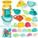 iBaseToy 30 teiliges Strandspielzeug Set Strand Sandspielzeug-Spielset für Kinder...