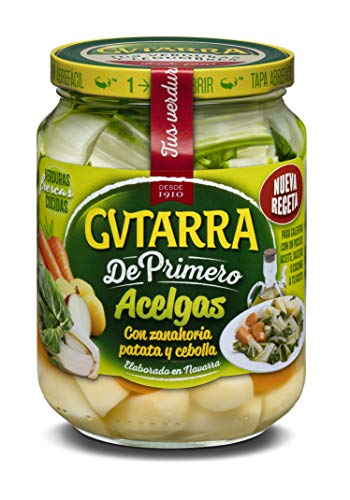 Gvtarra Tus Primeros Acelgas, Patatas y Zanahoria Verdura - Paquete de 6 x 400 gr - Total: 2400 gr