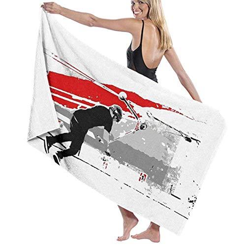 NATHANDAVISON Toalla de Playa de Microfibra de Secado rápido Spinning The Deck - Tail-Whip Scooter Stunt Adecuado para Deportes de Viaje en el baño.