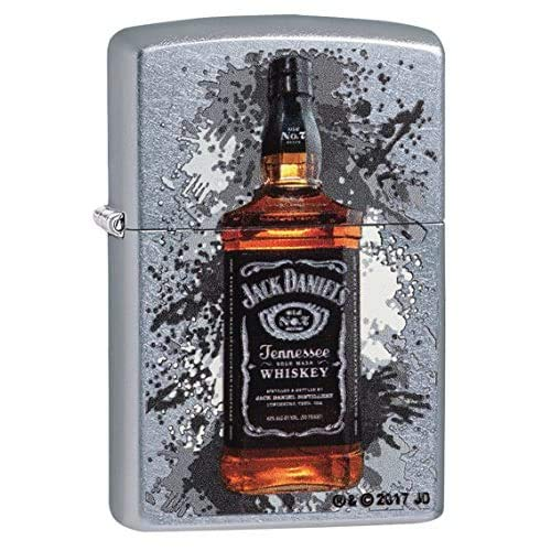 Zippo Jack Daniels Feuerzeug, Messing, Street Chrome, One Size