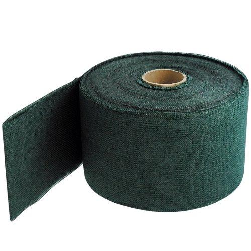 NOOR Textile Zaunblende in grün 19cm x 70m I Wetterfeste Sichtschutzstreifen für Doppelstabmatten I Winddurchlässiger Sichtschutz für hohe Zäune