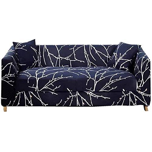 LXWLXDF-Funda de sofá Estiramiento de la impresión fundas de sofá, simple protector for Sofá Sofá cubrir los muebles con todo incluido antideslizante Sofá Toalla completa de la cubierta de tela de com