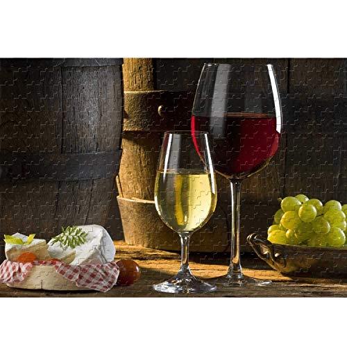 Food Wine Classic Puzzle Jigsaw 500 1000 1500 2000 3000 Piezas para Adultos Difícil Pieza Grande Pedazo Puzzle Decoración de Regalo de cumpleaños 210307