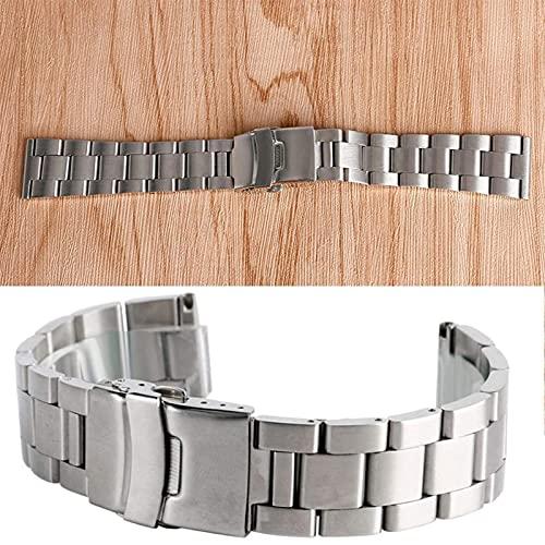ZJSXIA Reloj Correa, Universal 2 0MM / 22MM / 24MM Bandas de Reloj de Acero Inoxidable de Plata Pulsera de muñeca con Hebilla Reemplazo de Pulseras metálicas Pulsera Correas de Reloj