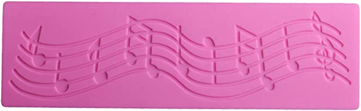BESTONZON Silicone Cake Mold Musical Note Lace Shape Mold Cake Decorating Tool Cupcake Dessert Chocolate Fondant Mold - 20X6X0.4CM (Pink)