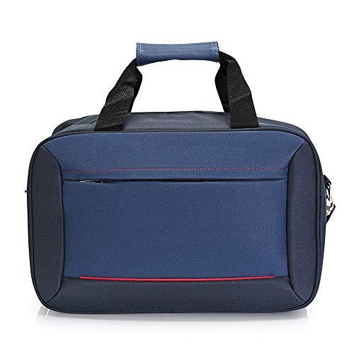 BONTOUR 40x20x25cm Handgepäck Reisegepäck für Ryanair, Massiv Kabinentasche, Sporttasche, Wochenendtasche (Blau)