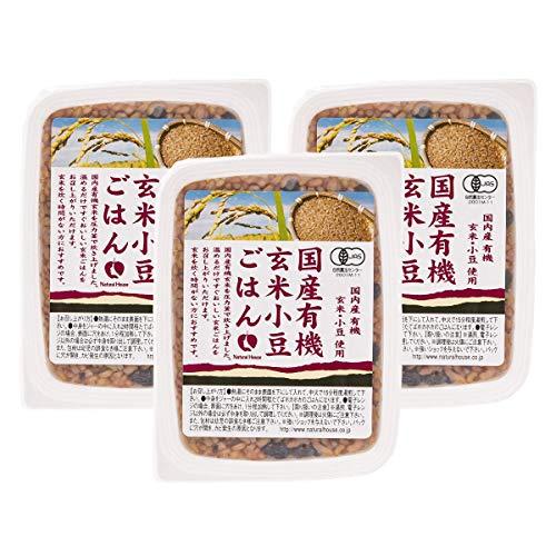 [ナチュラルハウス] レトルト 国産有機玄米小豆ごはん 160g×3袋 オーガニック パックご飯