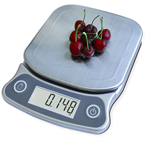 EatSmart ESKS-10 Precision Elite Scale-15 lb. Capacity, UltraBright Display and Stai Digital Kitchen Scale, One Size, Silver