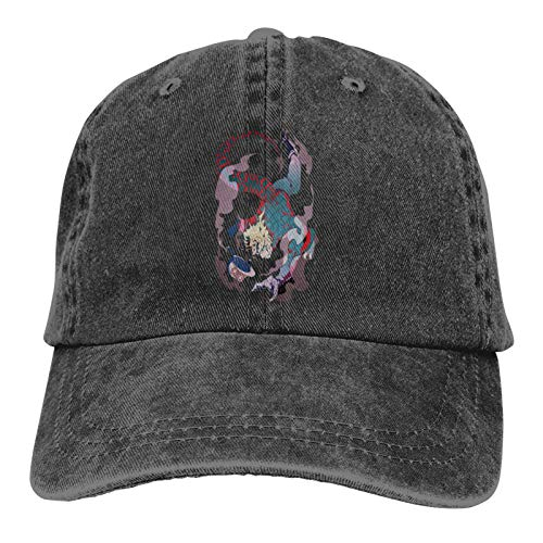 Yuanmeiju Cowboy Hat Diego Brando Adult Men and Women Casual Sports Baseball Cap 3D Printed Cap Black