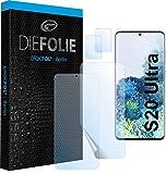 Crocfol Schutzfolie vom Testsieger [2 St.] kompatibel mit Samsung Galaxy S20 Ultra- selbstheilende Premium 5D Langzeit-Panzerfolie inkl. Kamera Schutzfolien (Hüllefit)