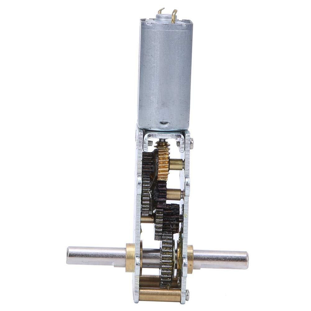 Motor de engranaje helicoidal de 12V Motor de alta torsión de alta velocidad para soporte de exhibición Cortinas eléctricas Reductor de turbina Cobre 0.5A WGF180-55 para ventana eléctrica(12V44rpm)