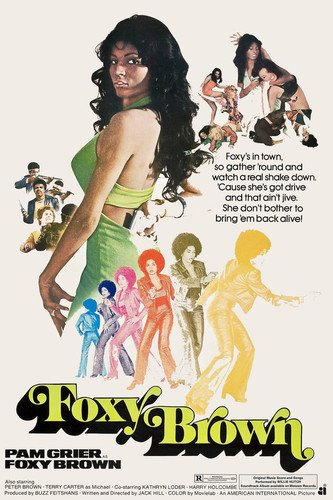 Pam Grier in Foxy Brown Cool 1970's Artwork Blaxploitation classic 24x36 Poster