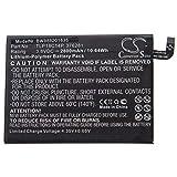 vhbw Akku Ersatz für Wiko TLP18C14P, 376281 für Handy Smartphone Handy (2800mAh, 3,8V, Li-Polymer)
