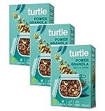 Turtle Cereales Granola orgánica sin gluten con semillas de girasol, calabaza, lino y nueces - 3 x 350 gramos