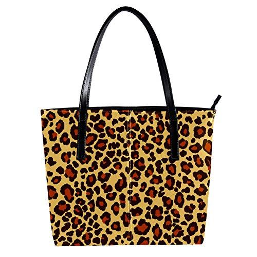 TIZORAX Damen Handtasche Panther Leopard Jaguar Wild Jaguar Muster PU Leder Mode Handtasche Tragegriff Schultertaschen Geldbeutel