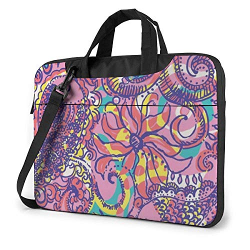 Lilly Pulitzer Flamingo Adults Student 15.6 in Laptop Bag Notebook Protective Cover Handbag Shoulder Bag