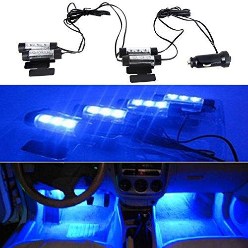 KKmoon 12V 12 LED Car Auto Interior Atmosphere Lights Decoration Lamp - Blue