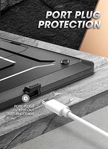 SupCase Case für Samsung Galaxy Tab S6 Lite Hülle 2020 Tab S6 Lite 10.4 Zoll Schutzhülle 360 Grad Cover [Unicorn Beetle PRO] mit integriertem Displayschutz und Ständer (SM-P610/P615) (Schwarz)