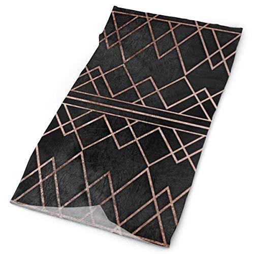 Nonebrand Chic & Elegante Imitación de oro rosa geométrico triángulos multifuncionales, accesorio elástico para el cuello al aire libre, transpirable, protección UV, protector de rostro para todo el año