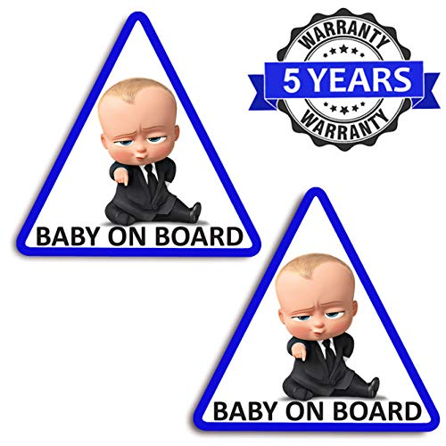 Biomar Labs 2 stuks vinyl baby on board kind veiligheid sticker autosticker sticker auto moto motorfiets helm raam tuning B 165