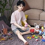 MZBZYU BJD Doll 1/3 60cm Full Set Male Boy Doll Ball Jointed SD Dolls se Pueden Cambiar Maquillaje y Vestido de Muñecas DIY