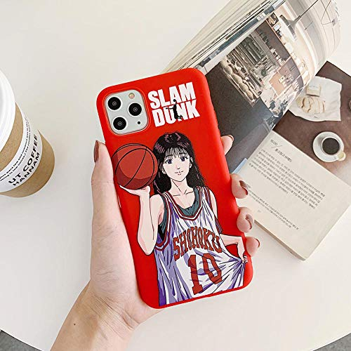 VXVN Comic Slam Dunk Sakuragi Cubierta del teléfono para el Alivio Soft Silicone Coque Funda-Imagen Colorb_Manzana xsmax