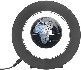 مجسم الكرة الأرضية العائمة المغنطيسية 10.16 سم مع مصابيح ليد ملونة على شكل O مقاومة للجاذبية والترتفع المغناطيسي خريطة الع...
