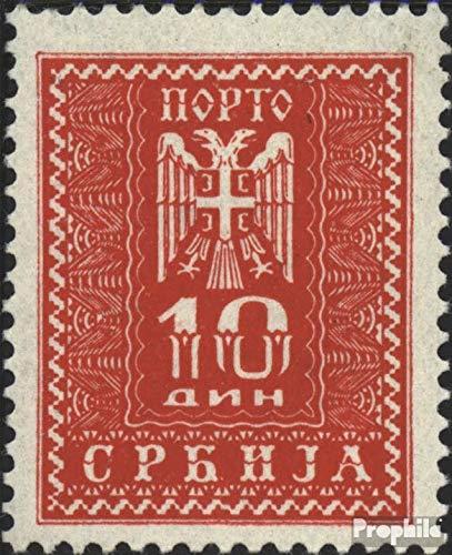 Prophila Collection Serbia (alemán.ocupación.2.Guerra Mundial.) p21 1943 Los Sellos de Correos (Sellos para los coleccionistas)