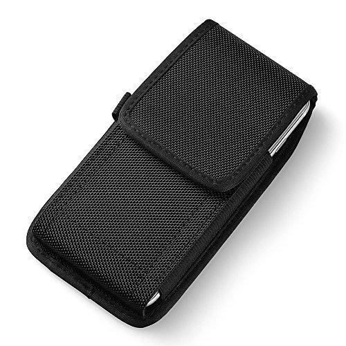 Premium Nylon Schlaufe Vertikal Tasche Gürteltasche für Samsung Galaxy S10 / S10 Plus/Motorola Moto G7 / G6 Plus / G7 Plus / E5 Play / Z3 Play/LG G8 ThinQ/LG V50 ThinQ / V40 ThinQ