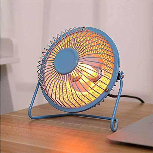 Portable Heater Mini Electric Heater Silent Fan Desktop Suitable for Home Office, Saving Electricity And Energy,Blue,6in