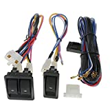 Toygogo 6Pcs / Set 12V Kits de Regulador de Interruptor de Ventana Eléctrica de Coche Universal con Arnés de Cableado para 2 Puertas