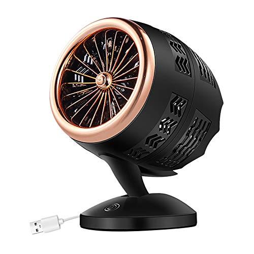 MagiDeal Ventilador de Escritorio USB, pequeño Ventilador portátil silencioso para Mesa de Oficina de Escritorio, Ajuste de 5-20 ° para una Mejor - de Oro