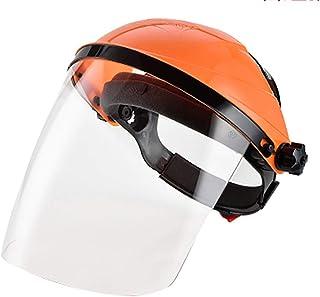 Jian E Protective Mask-Transparent Electric Welder Full Face Anti-Splash Anti-Shock Electric Welding Fight Screen Screen Eye Goggles (Color : Orange)