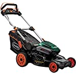 """Scotts Outdoor Power Tools 60362S 21-Inch 62-Volt Cordless Self-Propelled Lawn Mower, LED Lights, Batteries, (1) 4Ah, (1… 27 Powered by 62-Volt 5Ah lithium-ion battery and fast charger included; Auto-adjust, 2-speed brushless motor for gas-like power, increased efficiency, and run-time 21"""" cutting width with durable steel deck; Single point cutting height adjustment lever; Steel tube front guard and lift handle 3-in-1 functionality provides a mulching, side discharge, and rear-bagging system; Grass catcher with 16 Gal bag capacity; Adjustable cutting height of 1.5""""-3.75"""""""
