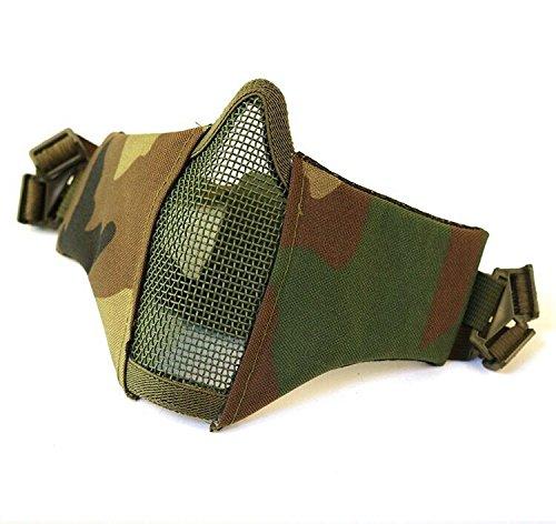 thematys Softair Airsoft-Maske - perfekte Ausrüstung für CS Paintball & Nerf - Halbmaske mit Mundschutz für Erwachsene - Einheitsgröße