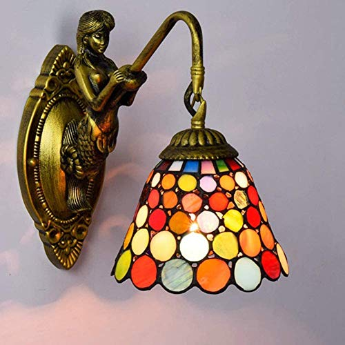 DALUXE Lámpara Exquisito Estilo de Juego Agradable Estructura de Pared de Cristal Moderno de la Pared Simplicidad Tiffany en ablanda Sombra,Soltero