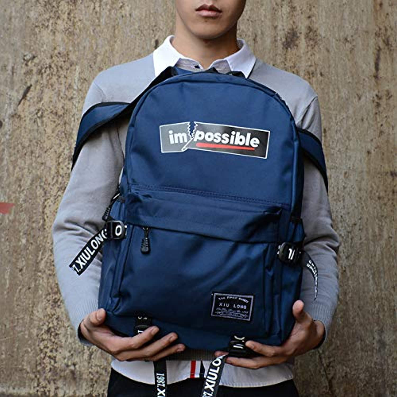 YZBB Schultasche Junior High School Student Mode Trend Jugend Koreanische Version Campus Canvas Rucksack B07GTMDN5J  Britisches Temperament