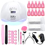 54W White LED UV Nail Lamp,Nail Lamp for Gel Nail Curing Dryer